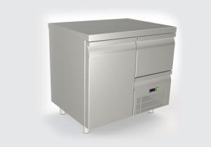 Ψυγείο πάγκος με 1 πόρτα 1 συρτάρι και συρταρωτό μοτέρ