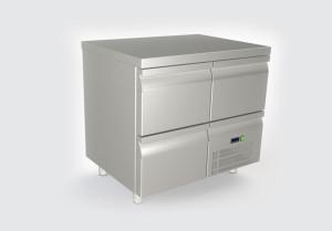 Ψυγείο πάγκος με 3 συρτάρια και συρταρωτό μοτέρ