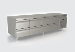 Ψυγείο πάγκος με 8 συρτάρια χαμηλό